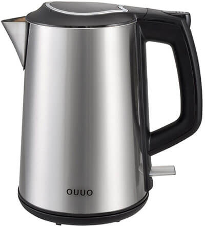 OUUO Cordless Double Wall Electric Water Kettle