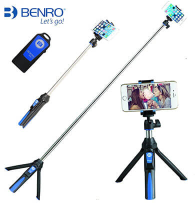 Benro Handheld 3-in-1 Monopod Extendable Phone Selfie Stick