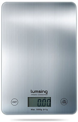 Lumsing Silver 11lb Kitchen Scale