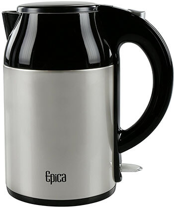 Epica Cordless Double Wall Stainless Steel Electric Water Kettle