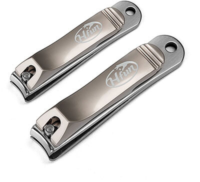 Hfun Nail Clippers Set, Stainless Steel Fingernail, Thick Nails