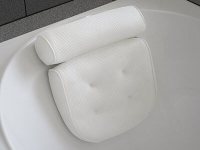 Viventive Luxury Spa Bath Pillow, Non-slipping, Extra Thick