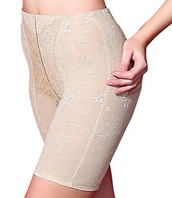 Junlan Hi-Waist Tummy Control & Thigh Slimmer Boyshort Shapewear for Women