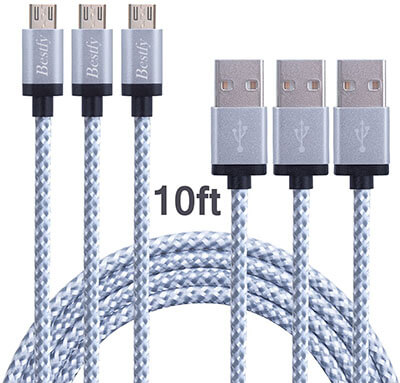 Besty Micro USB 2.0 3-Pack Cable