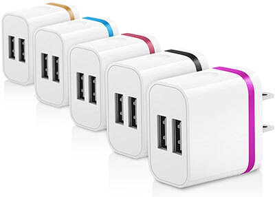 Canjoy Colorful Universal Dual USB Wall Charger