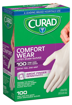 Curad CUR4125R Latex Medical Exam Glove