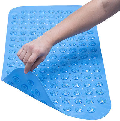 Shower and Tub Anti-Slip Long Bath Mat by Chicago Design Labs