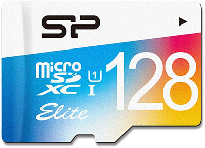 Silicon Power 128GB Elite micro SDXC UHS-1 Memory Card - with Adapter