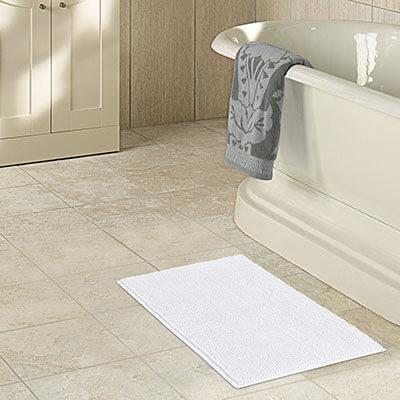 Lifewit Shaggy Chenille White Long Bath Mat. Top 20 Best Bath Mats In 2017 Reviews   AmaPerfect