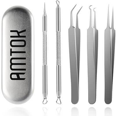 AMTOK Blackhead Remover Kit, Dermatologist Grade