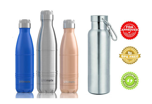 top 20 best stainless steel water bottles in 2018 reviews amaperfect. Black Bedroom Furniture Sets. Home Design Ideas