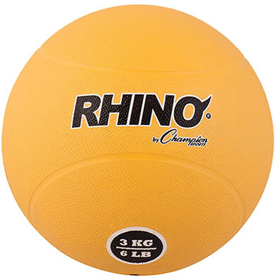 Champion Sports Rubber Medicine Ball
