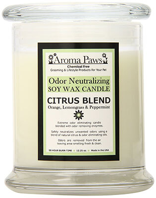 Aroma Paws Odor Soy Wax Candle, Citrus
