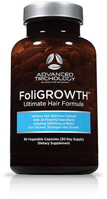 Advanced Trichology FoliGROWTH Hair Growth Vitamin, Vegan Formula