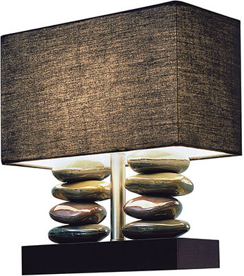 Elegant Designs LT1036-BLK Dual Stacked Stone Ceramic Table Lamp