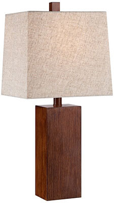 360 Lighting - Darryl Wood Finish Table Lamp