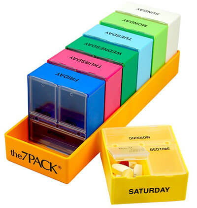 Borin-Halbich 7 Day 3 Compartment Pill Organizer