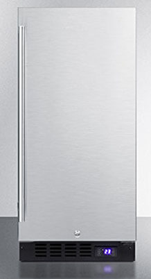 Summit SCFF1537BSS Stainless-Steel Upright Freezer