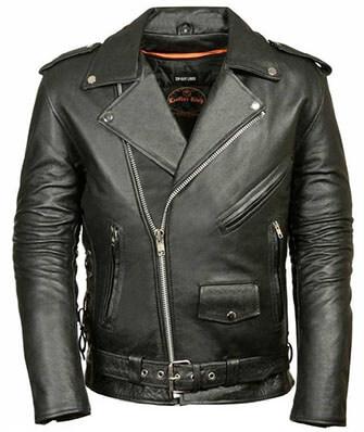 Milwaukee Leather Police Style Motorcycle Jacket