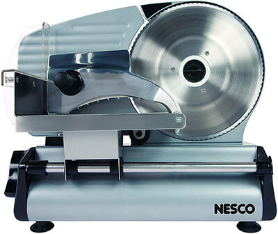 Nesco FS-250 Food Slicer with 8.7-Inch Blade, 180 Watt