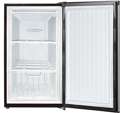 Midea WHS-109FSS1 Compact Stainless Steel Upright Freezer