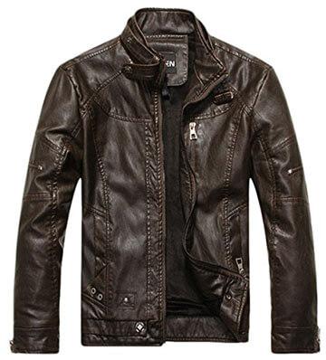 Chouyatou Vintage Men's PU Leather Jacket