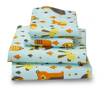 Woodland Print Luxury Bed Sheet for Kids