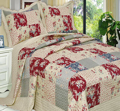 Finely Stitched Quilt Coverlet Bed Sheet Set for Sale