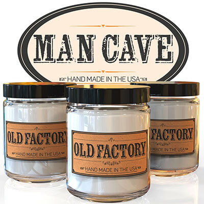 Old Factory Soy Candle Man Cave Scented Candles