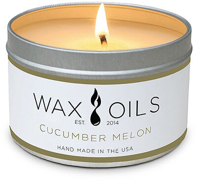 Wax and Oils Cucumber Melon Scented Aromatherapy Soy Wax Candles