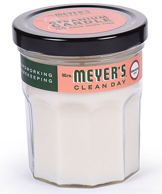 Mrs. Meyer's Merge Clean Day Geranium Scented Soy Candle