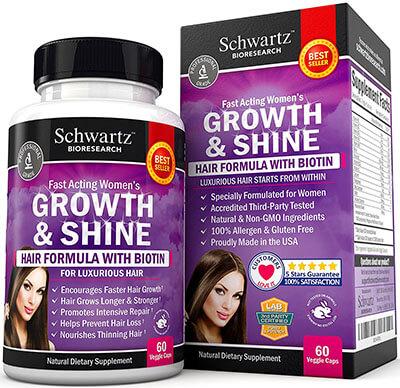 Schwartz Bioresearch Hair Growth Vitamins with Biotin