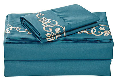 J.Home Fashions 4pc Full Bed Sheet Set 1500 Thread Count