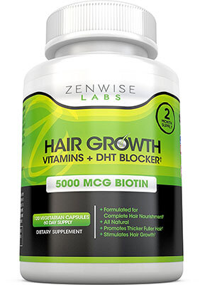 Zenwise Labs Hair Growth Vitamins Supplement, DHT, biotin, Unisex