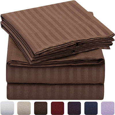 Mellanni Stripped High-Quality Bed Sheet Set