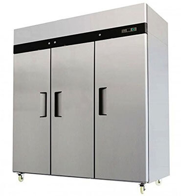 Restaurant Supplies Direct 3 Door Stainless Steel Freezer