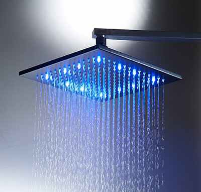 Aquafaucet 10 in Square Stainless Steel Rainfall Showerhead