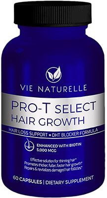 Vie Naturelle Hair Loss Vitamins Supplement, 30 Day DHT Blocker Pills