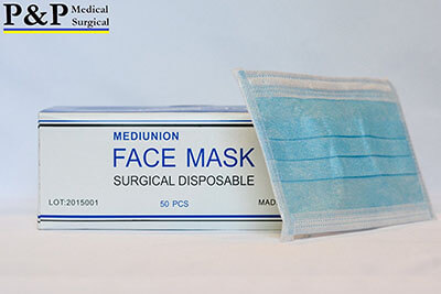 P& P Medical Surgical EarLoop Disposable Medical Mask