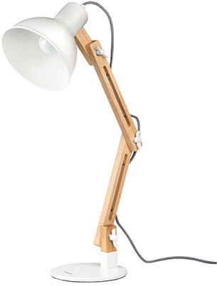 Tomons Wood Swing Arm Designer Table Lamp