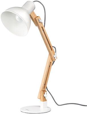 Tomons Wood Swing Arm Designer Table Lamp