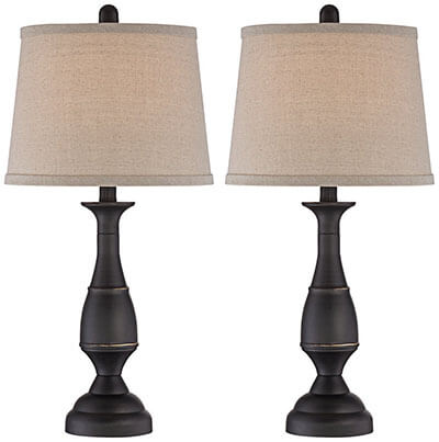 Regency Hill Ben Bronze Metal Table Lamp