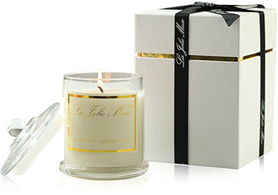 La Jolie Muse Plumeria Scented Candles, Glass Jar