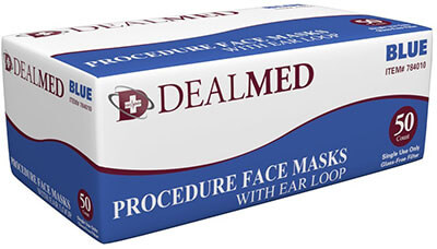 Dealmed Disposable Blue Medical Mask