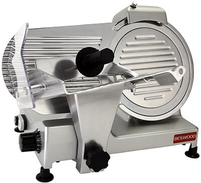 Beswood 10-Inch Premium Carbon Steel Blade Electric Food Slicer, Chromium-plated