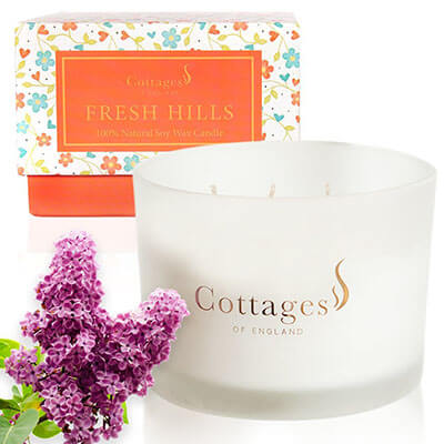Cottages of England Soy 3-wick Scented Candle
