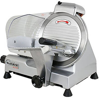 F2C Professional Stainless Steel Semi-Auto Electric Food Slicer