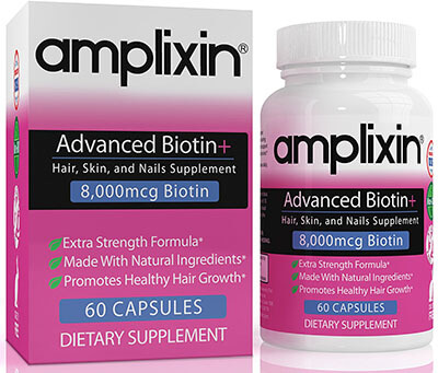 Amplixin Advanced Biotin Plus Hair and Nail Growth Supplement