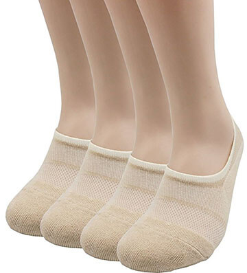 Pro Mountain No Show Cotton Sports Liner Socks, Unisex