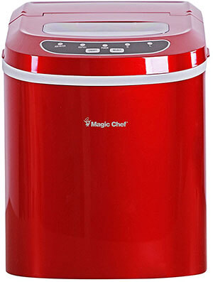 Magic Chef MCIM22R Red Countertop Ice Maker